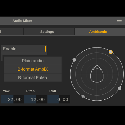 Ambisonic audio